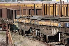 967588 Hoo Junction 160218 (Dan86401) Tags: 967588 dc967588 yla mullet bogierailcarryingwagon wagon freight fishkind borail db dbcargo engineers departmental infrastructure civilengineer br bolster hoojunction