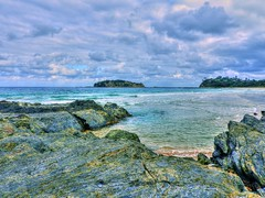Jimmies island IV (elphweb) Tags: hdr highdynamicrange nsw australia coast coastal island rosedale rock rocks rockformation jimmies jimmiesisland sky skies cloud clouds cloudy cloudformations
