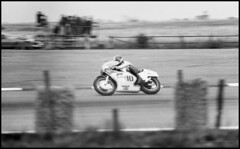 Agostini (G. Postlethwaite esq.) Tags: 500cc bw britishgp canonae1 silverstone tamron300mmf56 uk yamaha blackandwhite film monochrome motorbikes motorcycle photoborder racing