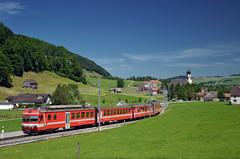 S23 1118 @ Schwende (Wesley van Drongelen) Tags: ab appenzeller bahnen bde 44 s23 sbahn schwende wasserauen appenzell train trein zug