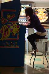 New Toy (karleemorganroyek) Tags: arcade mspacman pacman retro gaming videogaming basement nikon redhair girl