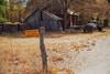quandary (Maureen Bond) Tags: maureenbond ca highsierra truck decisions notrespassing quandary sign post barn fence fencefriday fall autumn