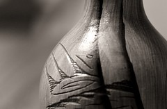 Navajo pottery (mpalmer934) Tags: macro mondays monochrome pottery vase monument valley navajo tribal park artwork souvenir