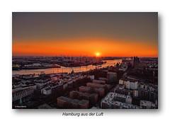 Hamburg aus der Luft - 07021809 (Klaus Kehrls) Tags: hamburg luftaufnahme hamburgerhafen sonnenuntergang elbe landungsbrücken