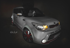 Kia Soul (Nabeel Iqbal) Tags: kia soul red zone edition qatar camera canon 6d 1740mm photography car speedlite photographer light interior rims