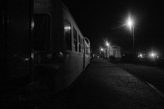 Early morning at the station (Sivispacem...) Tags: sd1 merrill 1835 sigma art night black white noir et blanc gare station train picasso x3824