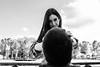 Reading the crystal ball (The Whisperer of the Shadows) Tags: chica girl woman mujer cabeza head gaze mirada blancoynegro blackandwhite bnw bw byn margui margarita geotagged face cara retrato portrait