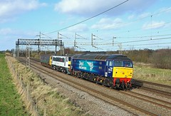 57302 + 90002, Heamies Farm, 15 Feb 2018 (Mr Joseph Bloggs) Tags: heamies farm norton bridge stafford crewe tmd norwich crown point 57302 90002 dbso 5z90 ecs train treno bahn railway railroad anglia drs direct rail services gm emd general motors electro motive division 90 002 57 57002 emd645e3 pole polephotography