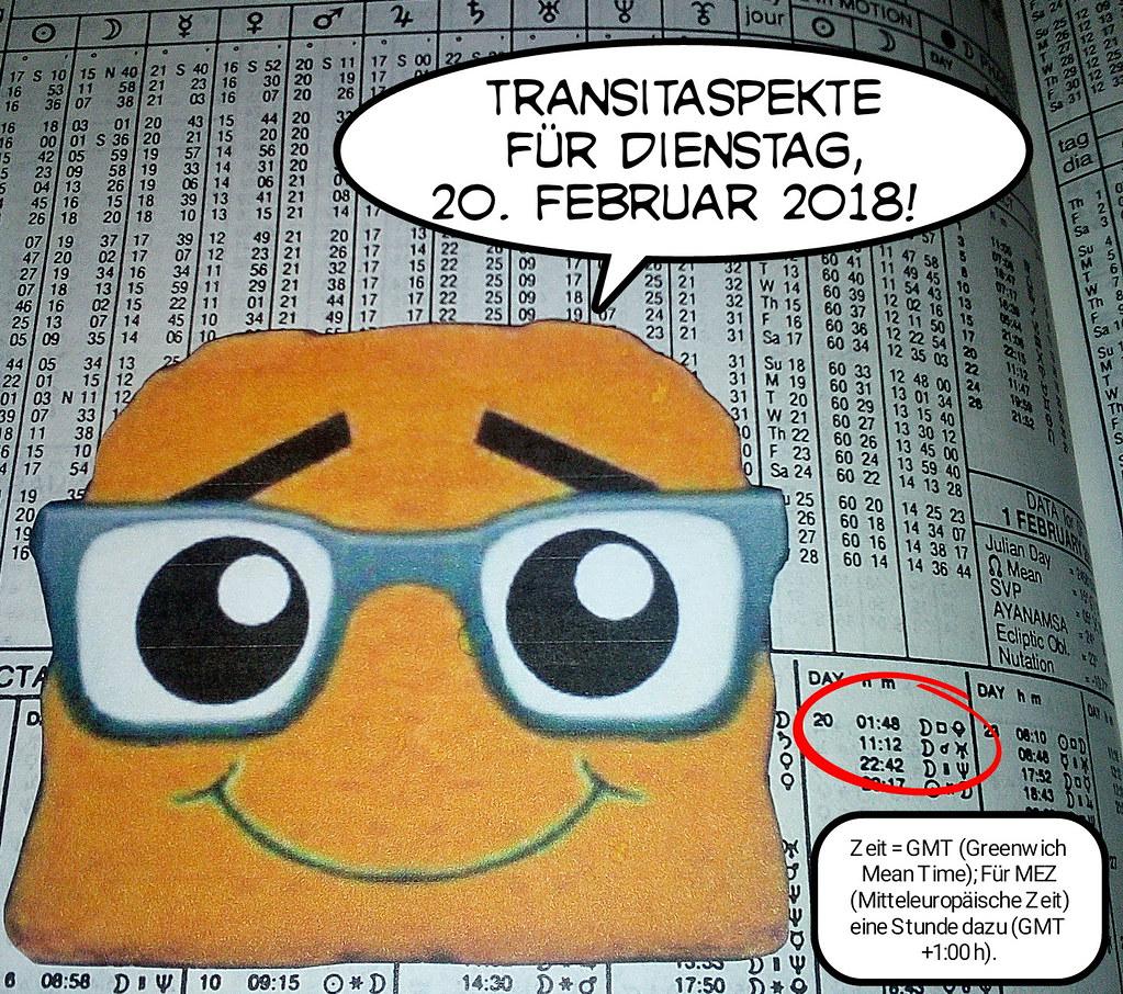Ephemeriden für Dienstag, 20.02.2018