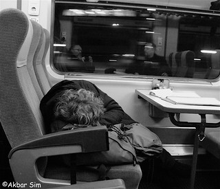 Sleeping by train