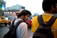 Cultivated coiffure (sanat_das) Tags: man ajoynagar kolkata cultivatedcoiffure bokeh portrait streetphotography 50mm d800