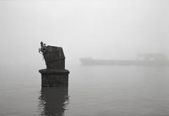 Along the Waterfront, Astoria, Oregon (austin granger) Tags: waterfront astoria oregon columbiariver ship boiler fog still winter quiet evidence artifact decay impermanence film gw690 whitestarliner shipsboiler