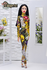 Sybarite Vivir in mimosa printed jumpsuit by ELENPRIV (elenpriv) Tags: sybarite vivir mimosa printed jumpsuit elenpriv elena peredreeva superfrock superdoll spring melody collection 16inch 16fashion
