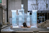 Ice King (cookedphotos) Tags: 2018inpictures toronto ontario canada canon 5dmarkiv streetphotography yorkville ice sculpture icesculpture castle man sitting melting winter 365project p3652018