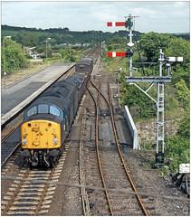 View from the box, Haltwhistle (geoff7918) Tags: 40049 haltwhistle freight signalbox alstn carlisle