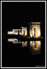 Templo de Debod (Estibaliz Llano Vicente) Tags: madrid spain españa capital viaje trip templo de debod night noche reflejo reflection