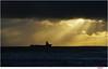sunrays (Lutz Koch) Tags: borkum nordsee schiff ship sea meer elkaypics lutzkoch nachmittag abend afternoon evening kontrast contrast shiny helldunkel hell dunkel sunshine sonnenschein darkcloud
