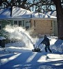 """Digging Out (larrykitzman) Tags: after storm 2018 january minnesota minneapolis blow white 12"""" snowblower snow"""