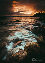Copper Sunset (RTA Photography) Tags: copper colour sunset torbay torquay meadfootbeach sea rocks seascape rtaphotography nikond750 nikkor1835 wave sky clouds nature outdoors water