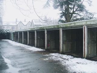 Empty garages.