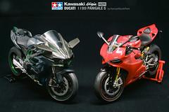 DSC00463_PSMS (Kenny@SouthPark) Tags: tamiya ducati kawasaki panigales h2r model