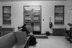 Helper, UT (jameshouse473) Tags: depot station helper utah amtrak zephyr up union pacific rio grande drgw dusk waiting room monochrome
