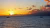 Maui Hawaii Sunset (PDX Bailey) Tags: sunset sky sea ocean orange water boat sail sailboat blue wave evening canon camera photography