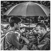 The Umbrella (FotoFling Scotland) Tags: filmcrew male highlandgames perthshire birnam umbrella