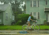 A wet ride home from school (radargeek) Tags: rain charleston sc southcarolina august 2017 bicycle driving school girl kid child student downtown
