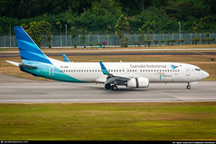 [SIN.2015] #Garuda #GA #GIA #B738 #PK-GME #AWP (CHR / AeroWorldpictures Team) Tags: garuda indonesia boeing 7378u3 wl msn 30157 3123 eng 2x cfmi cfm567b26 reg pkgme history aircraft first flight test n1787b built site renton krnt delivered garudaindonesia ga gia leased dae capital config cabin c12y144 ferried b737 737 b738 b737800 winglets reverse singapore sin wsss asian airlines airways planespotting planes aircrafts airplane plane nikon d300s aeroworldpictures nikkor 70300vr raw lightroom