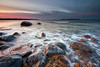 Winter sunset (allan-r) Tags: sunset beach sea baltics winter colors waves longexposure le gnd lahemaa rocks boulders fujifilm xt2 xf1024mm
