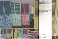 Sway's [Tabea] Room Divider | Shiny Shabby (Sway Dench / Sway's) Tags: room divider folding screen furniture metal romantic