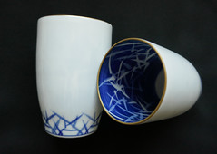 Japanese wedding cups (Monceau) Tags: foreign odc japanese weddingcups wedding cups porcelain blueandwhite delicate 23365 365picturesin2018 365the2018edition 3652018 day23365 23jan18