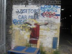 Visitors car park (Niecieden) Tags: 2010 july london canondigitalixus19is wall streetart graffiti pasteup