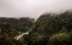 Transfagarasan (constellationw) Tags: bridge road transfagarasan romania fog mountains autumn travel landscape moto canon