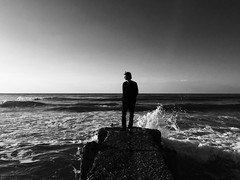 Ocean Sea (dariaalex) Tags: portrait monochrome bw