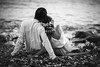 L-O-V-E (josejuanpantoja) Tags: love blackandwhite blancoynegro amor pareja back sea mar orilla fashion vintage d700 nikon couple