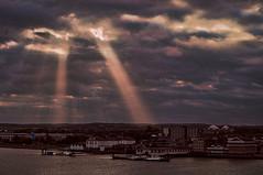 Sunbeams (kendo1938) Tags: gravesend kent england gb clouds sunrays riverthames water river waterway sunbeams thegurunanaktemple