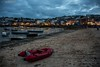 St Ives Bay (Ian Garfield - thanks for almost 2 million views!) Tags: canon cornwall ian garfield photography south west coast cornish cliff rock sea seaside beach bay sand splash waves water wet outdoor landscape shore harbour cloud sky blue boat storm dark clouds