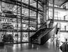 Glasshouse Stairs (frank_w_aus_l) Tags: glass monochrome nikon d810 sky architecture abstraction light sun 2470 nikkor lines forms vw gläsernemanufaktur dresden germany reflection sachsen deutschland de