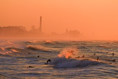 Surfing at sunset -Tel-Aviv beach - Follow me on Instagram:  @lior_leibler22 (Lior. L) Tags: surfingatsunsettelavivbeach surfing sunset telaviv beach surfers telavivbeach israel
