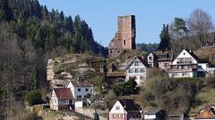 Ruine Elmstein Pfalz (CP Käser) Tags: ruine castle burg pfalz elmstein tal schildmauer dorf februar 2018 mauer wall fachwerk