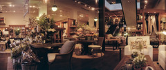 Pottery Barn (Blurmageddon) Tags: 35mm film filmphotography kmzhorizont kodak colorplus200 panoramic panorama pakonf135 nexlab indoors interior lowlight potterybarn losangeles santamonica