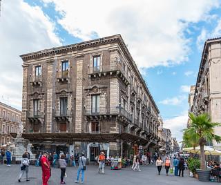 Sicilia. Catania. Via Giuseppe Garibaldi desde la plaza de la Catedral
