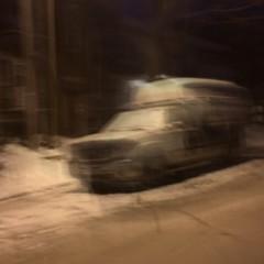 De grosses rafales de vent ce matin-là... (woltarise) Tags: ford pickup montréal rue quartier rosemont 5h50am neige froid vents streetwise