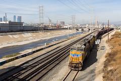 Workin' Los Angeles (Ryan J Gaynor) Tags: unionpacific losangeles california railroad railfan railway train trains railroading usa wideangle uprr