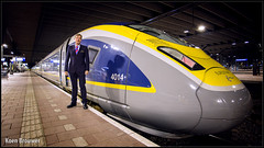 20160525 The Driver, Eurostar 4014, Rotterdam Centraal (16522) (Koen Brouwer) Tags: eurostar rotterdam 4014 16522 centraal trein train zug station gare bahnhof e320 velaro proefrit probefahrt mei 2016 machinist driver