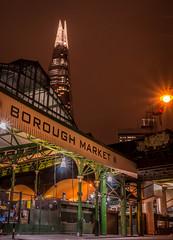 Borough Market.jpg (Darren Berg) Tags: shard market london farmers borough england night burst shopping covered street lamp