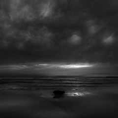 Abyss (|MBS-..|) Tags: d750 sea sky monochrome landscape seascape sand water ocean beach sunset bay fineart seaside