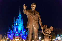 Goodnight, Tokyo Disney (Jared Beaney) Tags: canon6d canon asia japan disney themeparks themepark tokyodisneyresort tokyo tokyodisneyland travel photography photographer amusementpark disneyparks disneyresort night cinderellacastle partnersstatue waltdisney mickey mickeymouse
